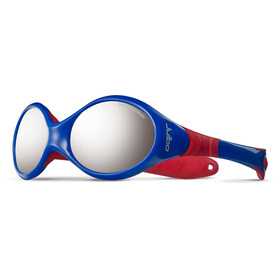 Julbo Looping III Spectron 4 Sunglasses Baby 2-4Y Blue/Red-Gray Flash Silver